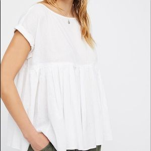 free people pleated top